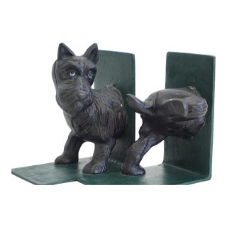 Lifted Leg Scottie Bookends - a Pair