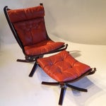 Image of Westnofa Mid-Century Wing Chair & Ottoman