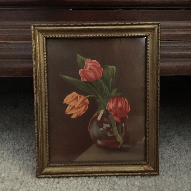 """Tulips in Vase"" Painting - Image 2 of 5"