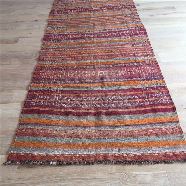 Vintage Turkish Kilim Anatolian Rug - 3′9″ × 10′4″ - Image 4 of 6