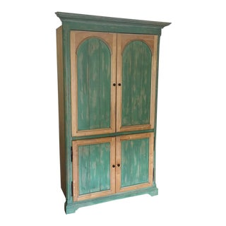 Rustic Green Armoire