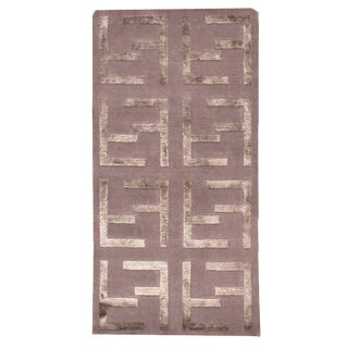 Indian Modern Silk Highlighted Rug- 3' x 5'