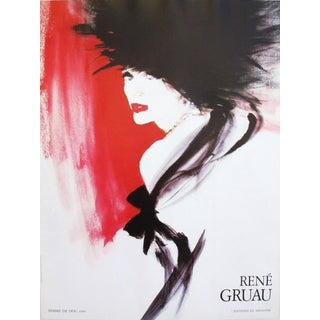 1980s Vintage French Rene Gruau Poster, Femme de dos