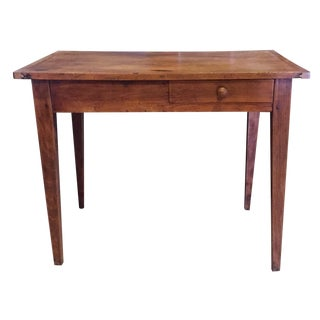 Antique French Country End Table with Drawer