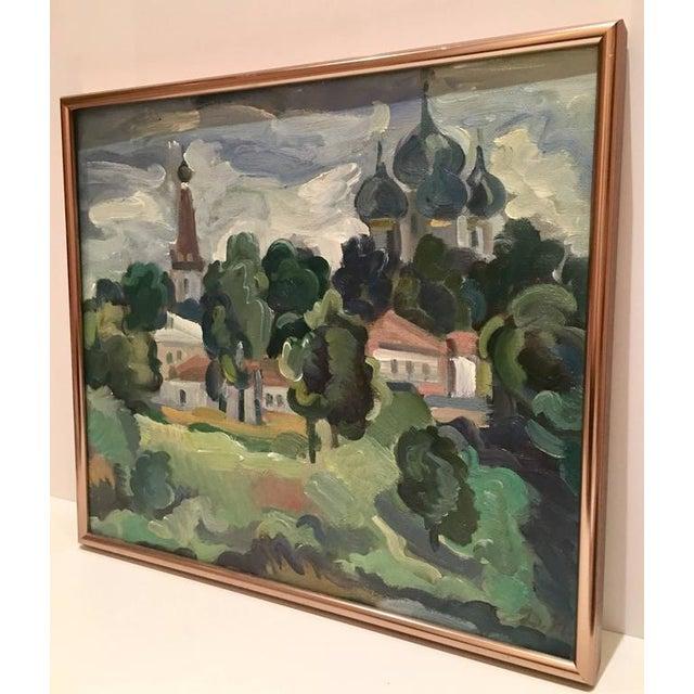 Original Oil on Burlap Landscape Painting - Image 3 of 10