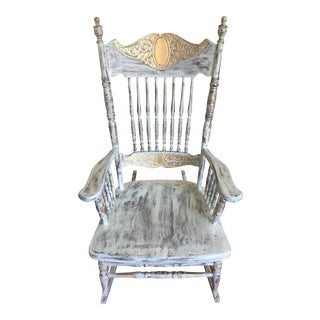 Vintage Hand Painted Rocking Chair