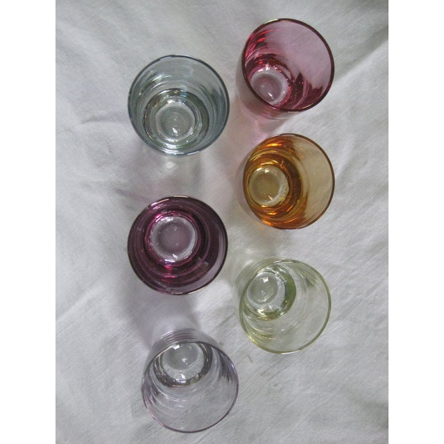 Vintage Multi-Colored Cocktail Glasses - 23 Pieces - Image 7 of 11