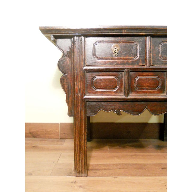 19th-Century Chinese Ming Cabinet - Image 4 of 9