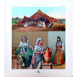 1888 Algerian Tent & Arab Nomad Lithograph