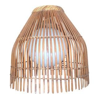 Vintage Bamboo Strip Hanging Pendant Light