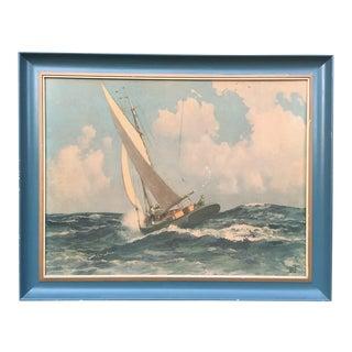 Robert Wesley Amick Sailboat Print