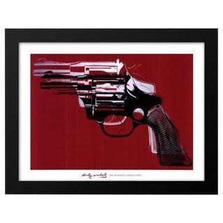 1981 'Gun' Andy Warhol Framed Print