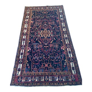 Hand Knotted Vintage Baluch Rug -