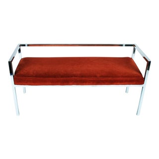 Swaim Designs Square Chromed Steel Tube Frame Bench