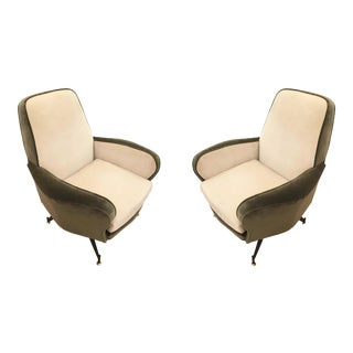 Pair of Lounge Chairs Attributed to Formanova, Italy, 1960's