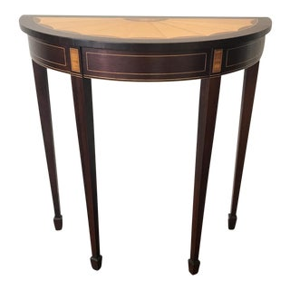 French Demilune Table With Inset Design