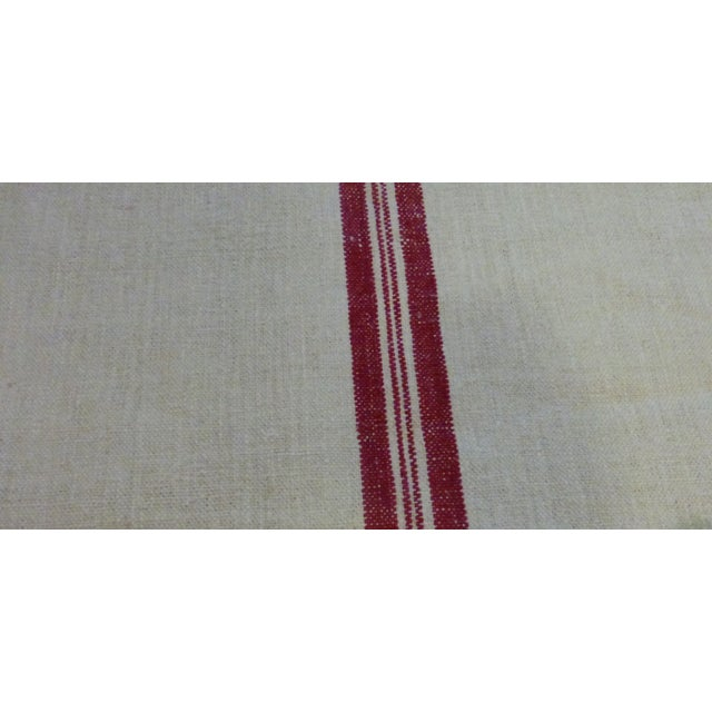 Image of Vintage Hungarian Red Stripe Grain Sack