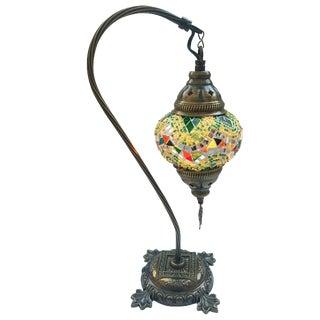 Yellow Mosaic Pendant Table Lamp