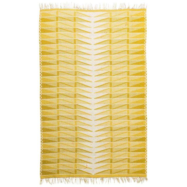 Vintage Swedish Flat-Weave Carpet - Image 1 of 9