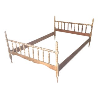 Full Size Vintage Wood Spindle Jenny Lind Bed