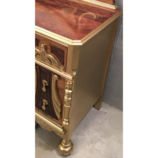 1920s Art Deco Vanity Table with Seat - Image 9 of 10