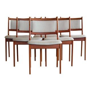 Vestervig Eriksen Six Danish Mid-Century Dining Chairs in Teak