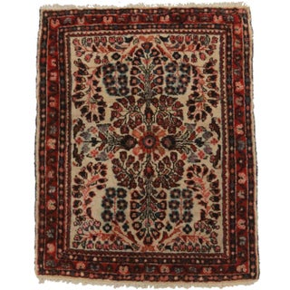 RugsinDallas Antique Hand-Knotted Wool Persian Sarouk Oriental Rug- 1′10″ × 2′4″