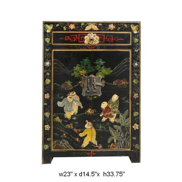 Image of Chinese Wood Kid Scenery End Table