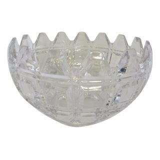 Heavy Cut Deco Crystal Bowl