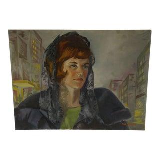 "Original Painting - ""Portrait - Mary Alyce Weekley"" by Tom Sturges, 1965"