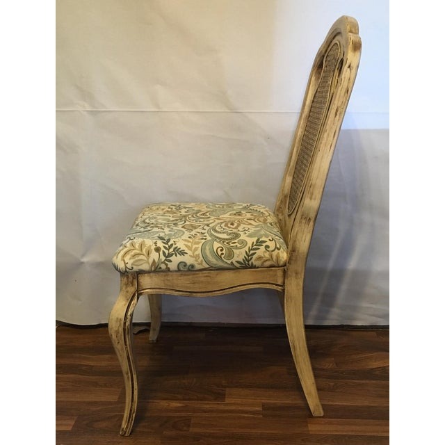 Vintage Cream Cane French Provencial Chair - Image 7 of 9