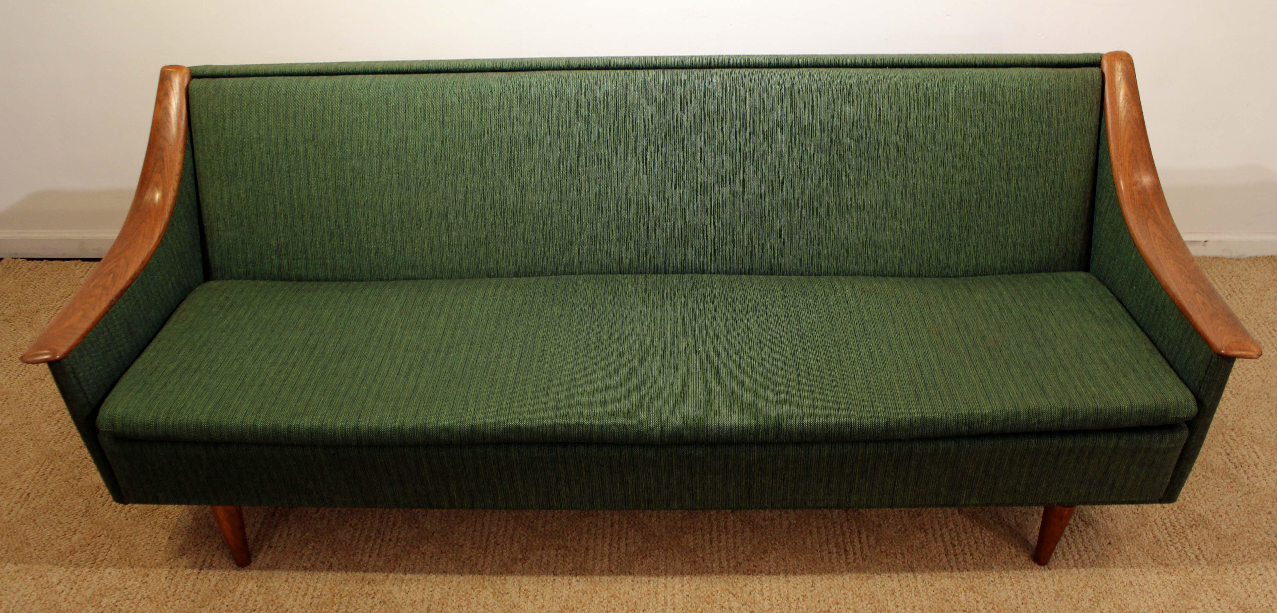 Mid Century Danish Modern Adrian Pearsall Style Sofa   Image 4 Of 11