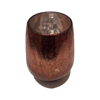 Modern Mercury Gold Glass Hurricane Candle Holder
