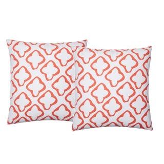Dana Gibson Reverse Moda Pillows in Orange - A Pair