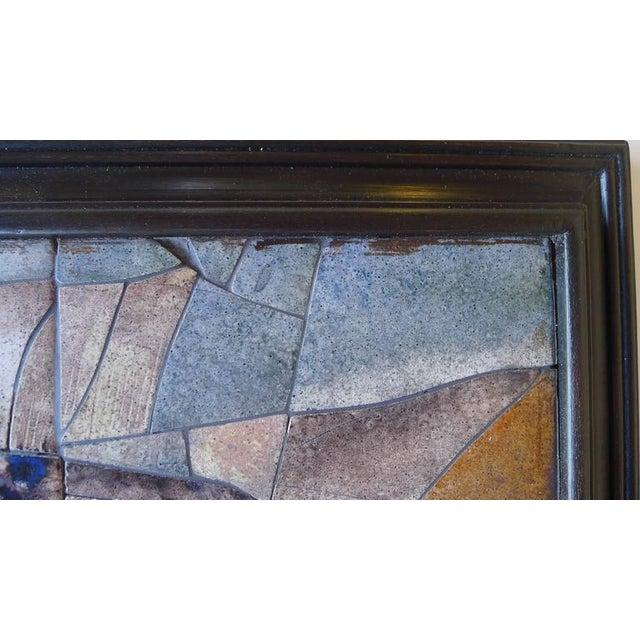 Mid-Century Framed Fish Tile - Image 7 of 7