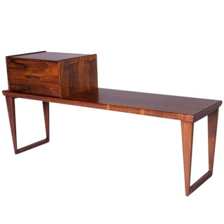 Rosewood Bench by Aksel Kjersgaard with Drawers