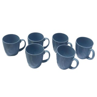 Corelle Powder Blue Stoneware Coffee Cups - Set of 6