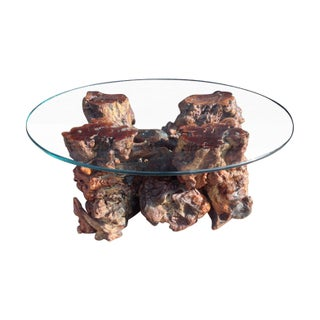 Mid-Century Burl Wood Coffee Table