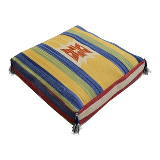 Turkish Hand Woven Floor Cushion - 28″ X 28″