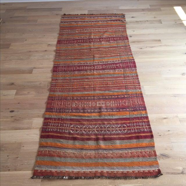 Vintage Turkish Kilim Anatolian Rug - 3′9″ × 10′4″ - Image 2 of 6