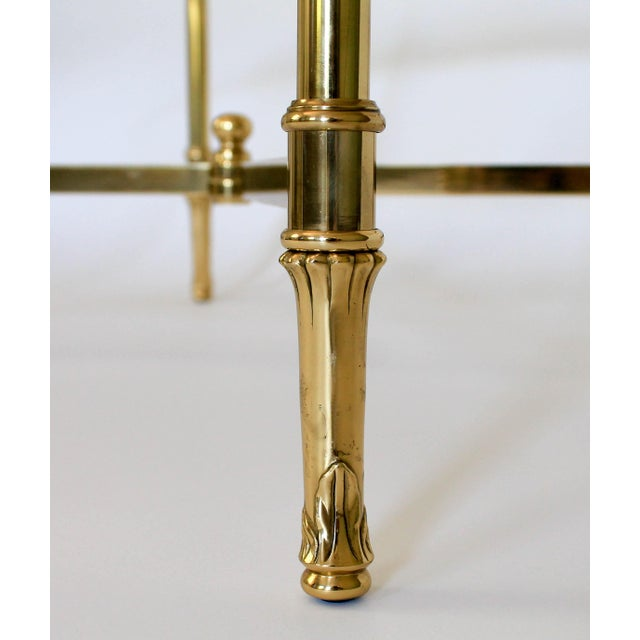 Italian Brass & Glass Coffee Table   Chairish