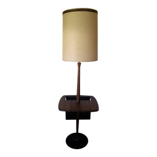 Mid-Century Walnut Floor Lamp