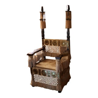 Pair of Carlo Bugatti Throne Arm Chairs