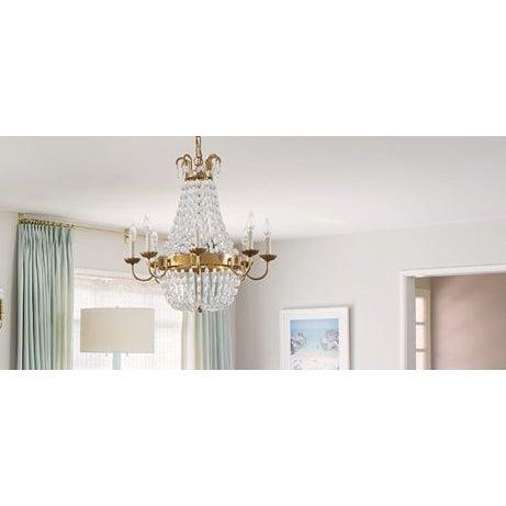 Visual Comfort Brass Chandelier - Image 3 of 7