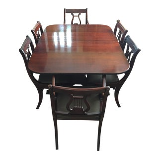 Dining Table & Lyre Back Chair Set