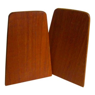 Danish Modern Teak Bookends - a Pair