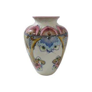 Faria & Bento Portuguese Hand-Painted Vase