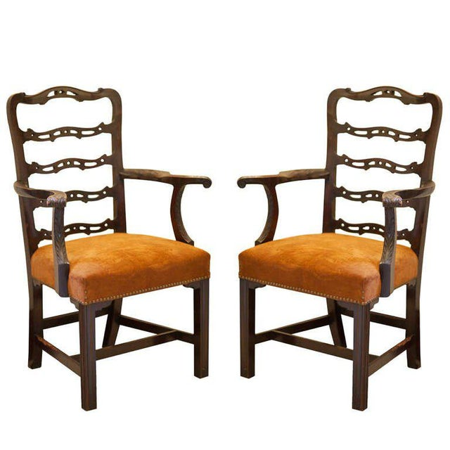 Pair of Mahogany Ladder Back Chairs - Image 8 of 8