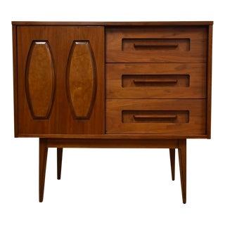 Mid-Century Walnut 6 Drawer Dresser