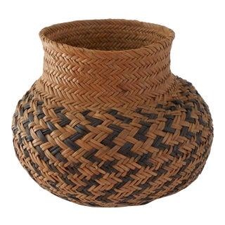 Natural Woven Basket Vase